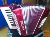 Lastra klavirska harmonika 48 basna rdeča