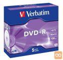 DVD+R 4,7Gb 16x  5-kos JC Verbatim