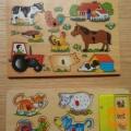 Lesene puzle živali za vstavljanje
