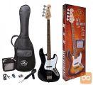 SX SB1SK-BK Bas kitara kitare set komplet